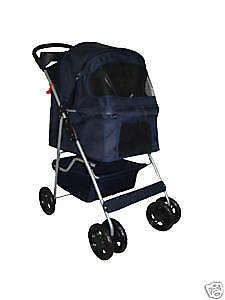 Used Navy Blue Dog Stroller
