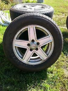 "REDUCED - JEEP Compass 17"" Tires with Aluminum  Rims and Sensors"