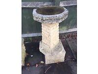 Concrete garden trough and birdbath