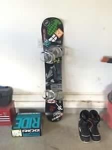 Full snowboard set up