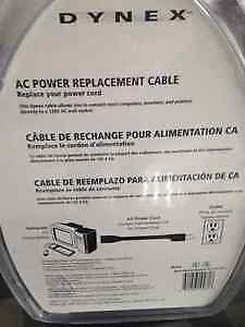DYNEX 6 FOOT OR 1.8 METERS AC POWER REPLACEMENT CABLE London Ontario image 2