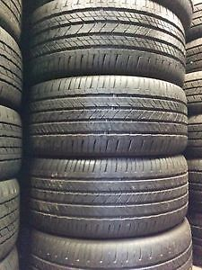 USED TIRES SALE 70% - 90% tread left FREE INSTALLATION & BALANCE