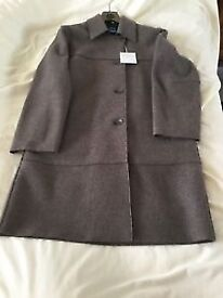 Pure wool knee length coat from M&S brand new