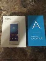 Trade iPhone6 for2Brand-new Samsung galaxy A5 and Sony Xperia m4