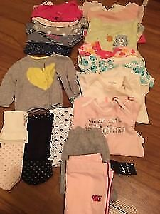 17 pieces baby girl cloths 6-9 months