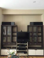 3 Piece Wall Unit Display Cabinet
