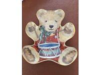Teddy bear plate brand new