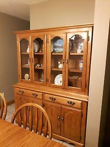 solid wood hutch - china cabinet