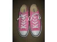 Converse Ladies All Star Pink Canvas Shoes size 8