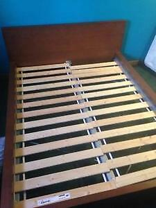 Solid maple queen bed and mattress London Ontario image 1