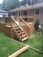 Decks and fences, Barrie Reno's and deck