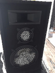 POWERED FISHER RECIEVER AND A SET OF AST CHROME SPEAKERS