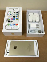 BRAND NEW GOLD FIDO IPHONE 5S 16GB IN BOX ( APPLE WARRANTY