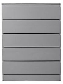 Hygena Inanna 5 Drawer Chest - Grey