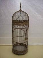 Superbe très grande cage à oiseaux en fer forgé - Volière