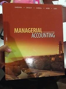 Managerial Accounting 9th Canadian Edition (LIKE NEW)