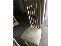 Limed oak dining chairs x 4