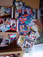 thousands of baseball-hockey cards