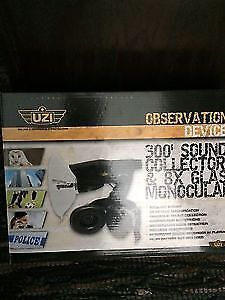 UZI Observation Device 300'sound collector/8X Glass monocular.