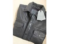 ALL SAINTS LEATHER JACKET/SHIRT