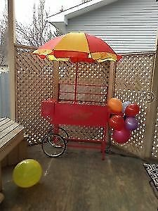 Mini hot dog cart. Great for kids activities and adult events!