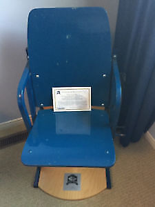 Maple leaf gardens chair blue section