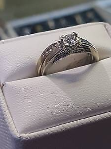 Diamond Engagement Ring 14k gold $799