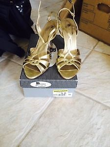 Leather gold sandles - BROWNS