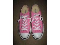 Converse All Star Pink Canvas Shoes size 8
