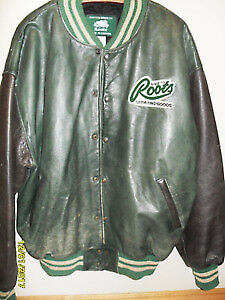 "Roots Ford ""Built Tough"" Green Leather Jacket"