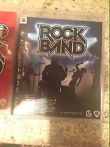 Five PS3 games - Rock Band and Guitar Hero