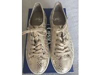 Ladies gold caprice lace ups