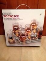 NEW Tic Tac Toe with 9 Glass Shooters! Moving sale!