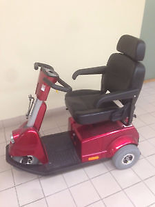 Fortress Red 3-wheel Mobility Scooter solid tires