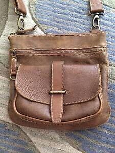 Roots Side Saddle Tribe Leather Purse