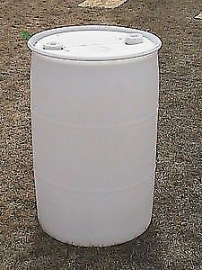 $12 poly barrels 55 gallon size when buying 12 or more