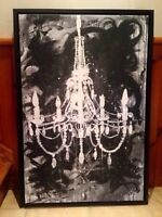 Beautiful contemporary Chandelier painting - Moving sale!