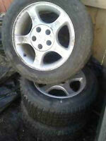 NEW STUDABLE 225/60r16 w/ mustang GT rims $150 OBO/TRADES