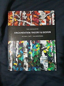 MANA 341 JMSB - Organizational Theory and Design 3rd ED