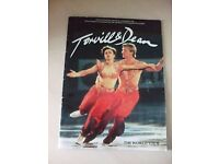 TORVILL & DEAN THE WORLD TOUR 1985 SOUVENIR BROCHURE AND ONE TICKET