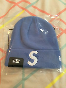 SUPREME NEW ERA NAVY BLUE BEANIE IN BAG DEADSTOCK GREAT 4 WINTER