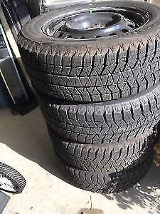 4 winter tires in rims