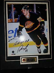 Gino Odjick autographed photo 2009 Vancouver Canucks NHL $59