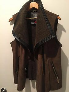 Brand New VINCE CAMUTO Faux Fur/Suede Outdoor Vest!