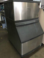 ICE MACHINE, WATER COOLED, MANITOWOC, MODEL:QDO 283W, 280LB
