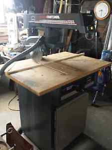 10 inch Crafts man radial arm saw with stand