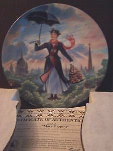 Walt Disney- Mary Poppins Collector Plate 1989 Edwin M. Knowles