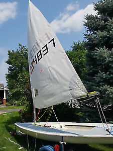 Laser 1 sailboat for one person with trailer