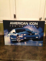 40TH ANNIVERSARY MUSTANG MACH 1 PLAQUE MADE BY FORD ACCESSORIES