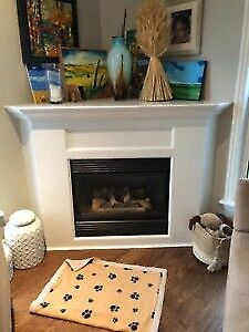 Majestic corner fireplace and mantle
